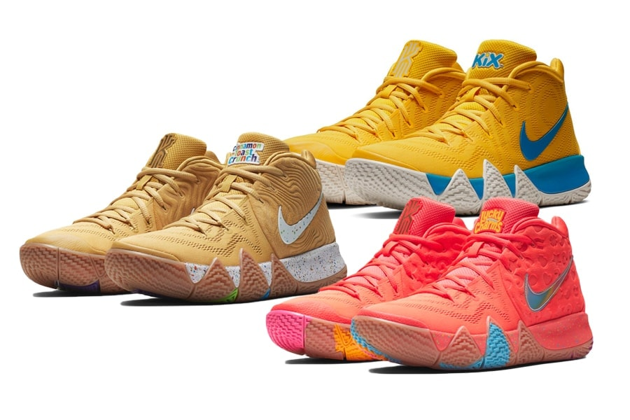 "86fbb9093dadde Kyrie Irving   Nike Debut the Kyrie 4 ""Cereal"" Pack In NYC This Weekend"