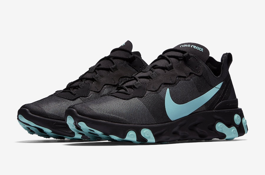 fbf34dec7b3c Nike React Element 55. Release Date  Coming Soon Price   130. Color   Black Hyper Jade Style Code  BQ6166-004