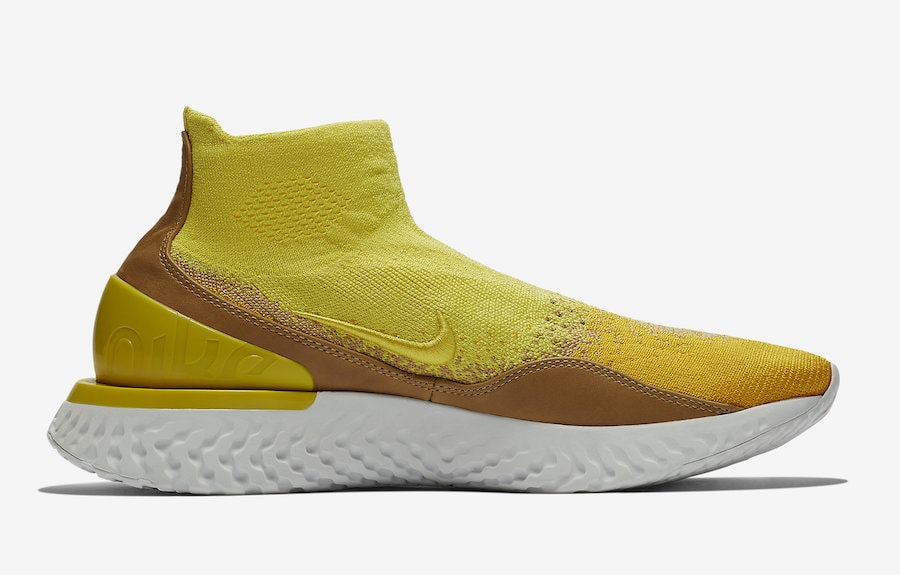 e3d2cca803e4 ... nike rise react flyknit release date september 1st 2018. price 160.  color sonic yellow
