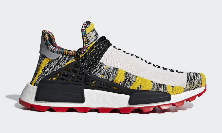8b07fc550 The post Pharrell s Solar   Holi adidas Hu NMD Collections are Restocking  Tomorrow appeared first on JustFreshKicks.