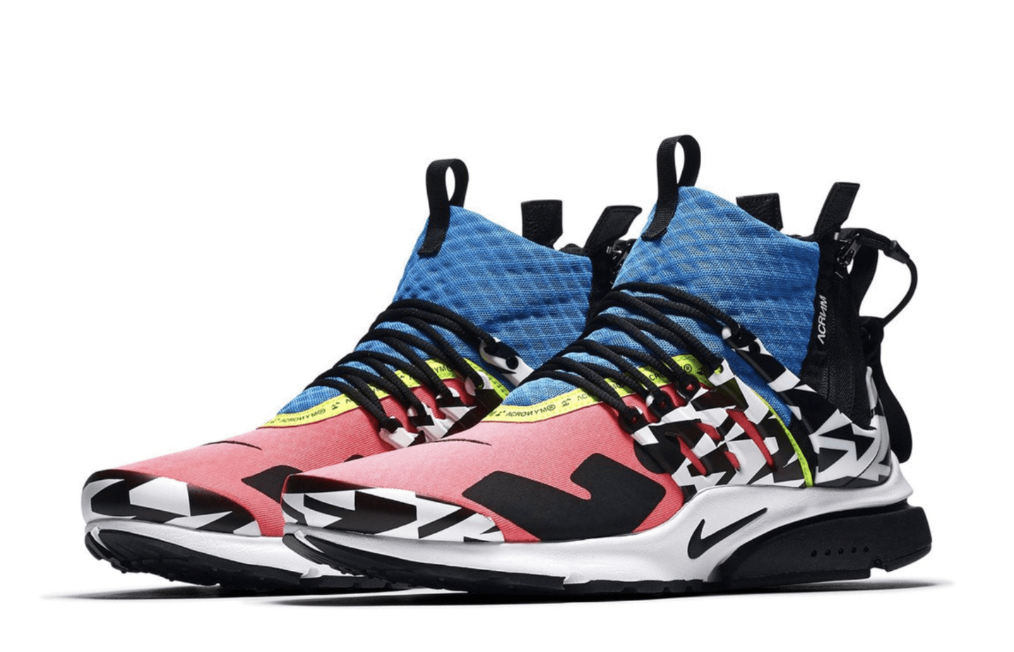 new arrival 67101 ad2c2 Acronym x Nike Air Presto Mid Release Date September 20th, 2018. Price  200. Color WhiteDynamic Yellow-Black Color Cool GreyBlack