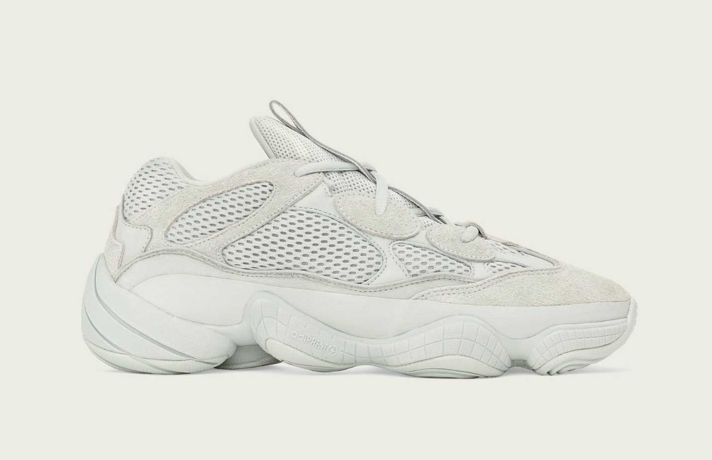 "cdf56c79b95 The adidas Yeezy 500 ""Salt"" Emerges in Official Images Ahead of Release"