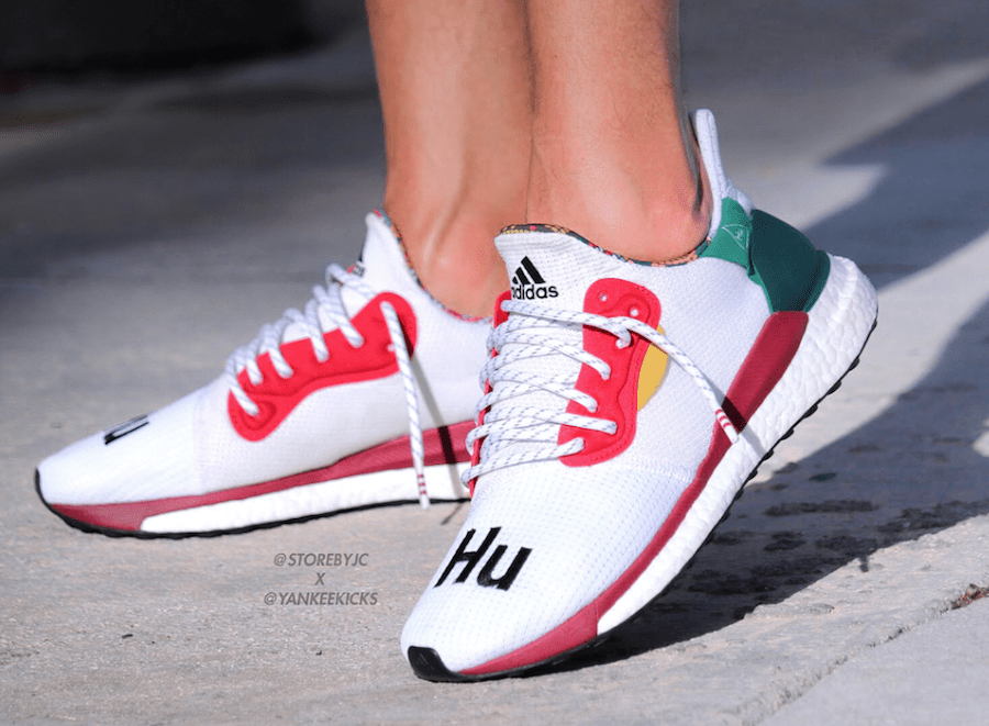 Pharrell Williams x adidas Solar Solar adidas Glide Hu Blanco db33e6