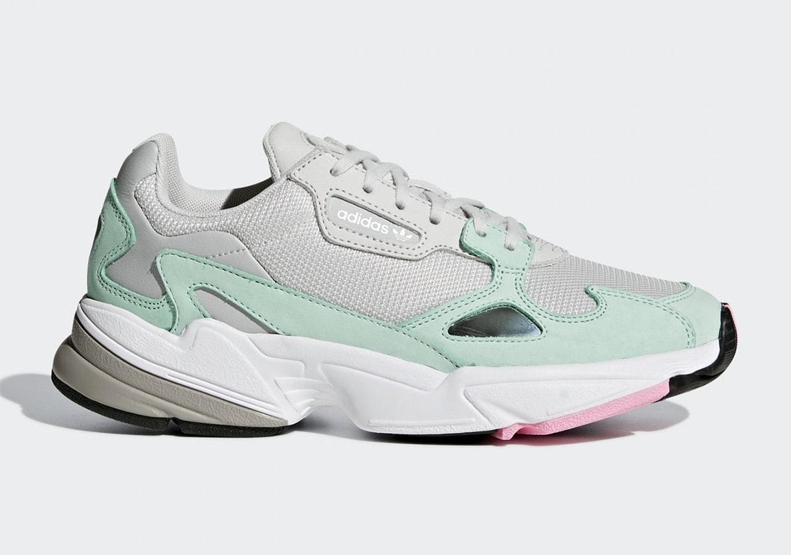 No de moda puenting cómo utilizar  adidas Falcon Triple White & Watermelon Release Info - JustFreshKicks