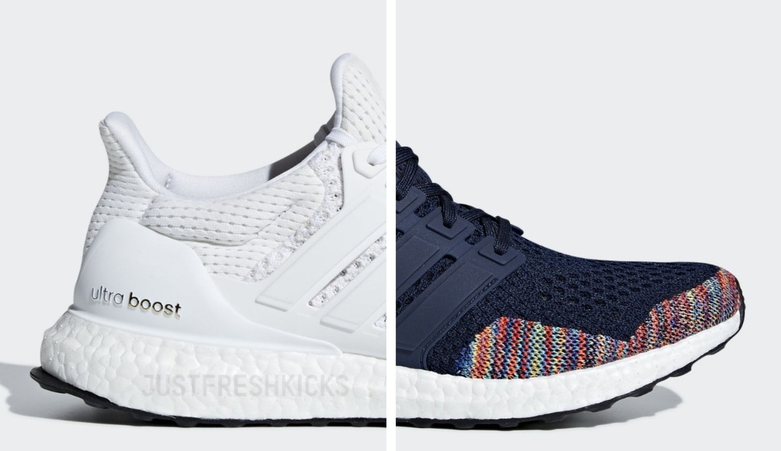 "42d35a3f3f9095 The adidas Ultra Boost 1.0 Returns in White   Navy ""Multicolor"" This  November"