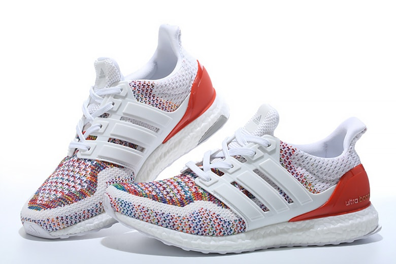 "new style 55588 72835 adidas Ultra Boost 2.0 ""Multicolor"" Release Date  August 23rd, 2018. Price    180. Color  Cloud White Cloud White Red Style Code  BB3911"