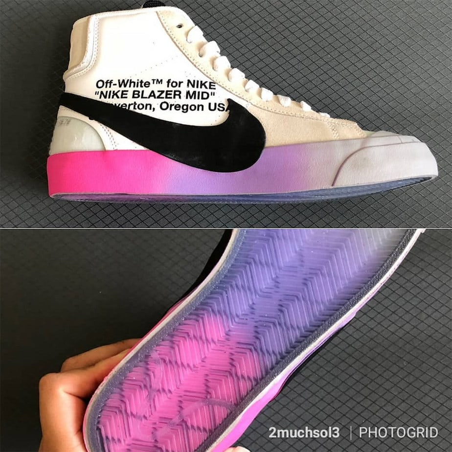 f7ee778d777e Off-White x Nike Blazer Studio Mid Sample First Look - JustFreshKicks