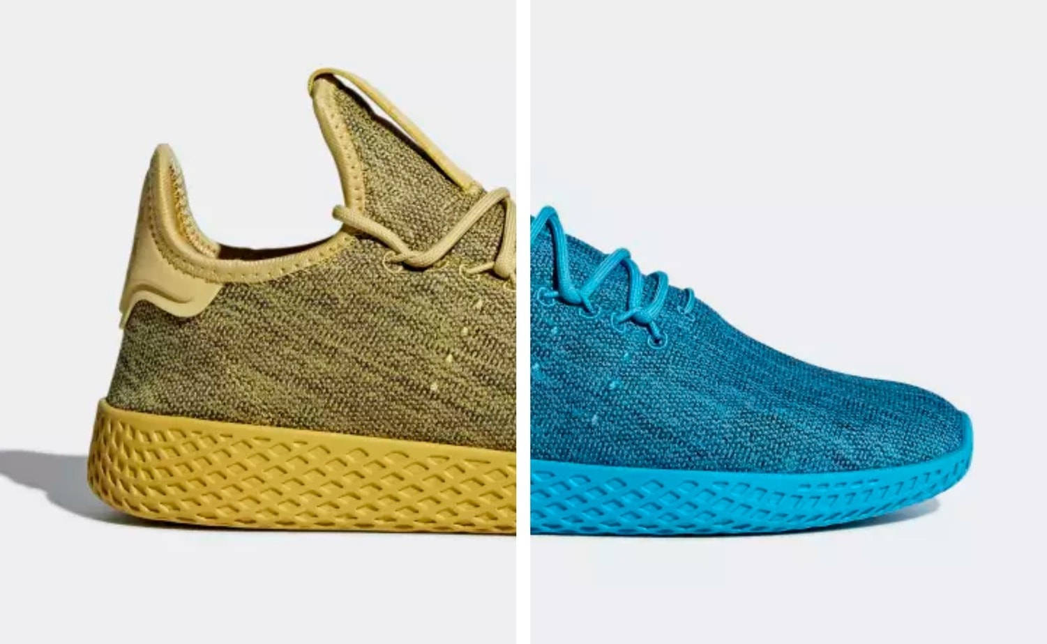 cfc0a6cd79ea3 Pharrell and adidas Release a Two-Part Tonal Tennis Hu Pack Featuring  Bright New Colors