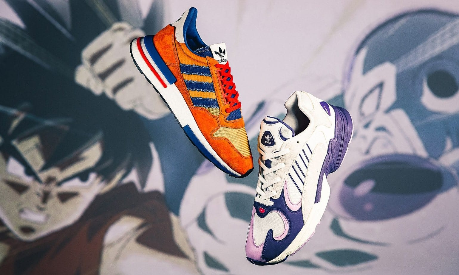 online retailer 828f8 0a875 The first round of the Dragon Ball Z x adidas collection is releasing this  Saturday, September 29th with the ZX 500 RM Goku and Yung 1 Frieza.