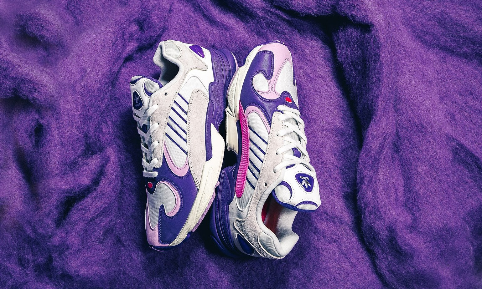 """9484bc5cc2e2db Dragon Ball Z x adidas Yung-1 """"Frieza"""" Color  Cloud White Unity  Purple-Clear Lilac Style Code  D97048 Release Date  September 29"""