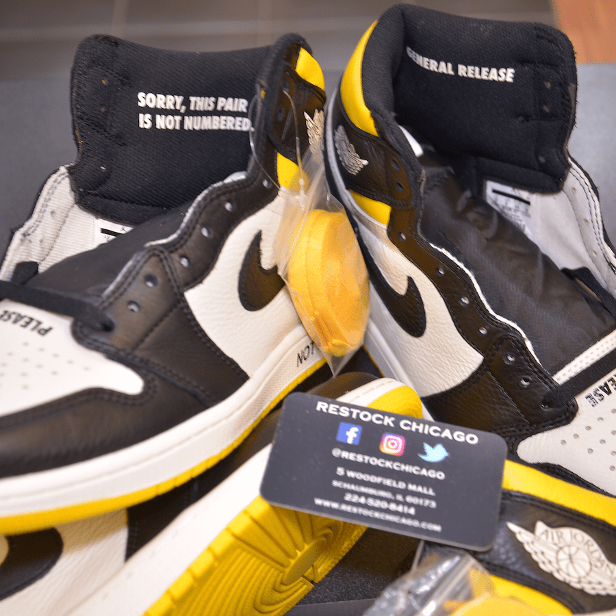 ccd8d66a6b92 Air Jordan 1 Retro High OG NRG Release Date  December 2018. Price   160.  Color  Sail Black-Varsity Maize Style Code  861428-107