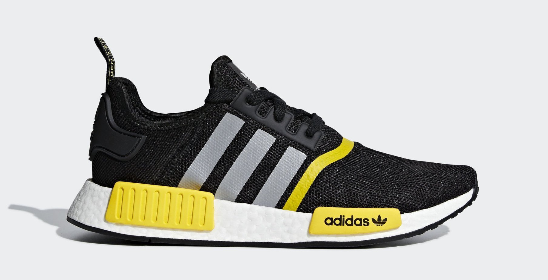 "the best attitude 56ced d1600 adidas NMD R1 ""BlackYellow"" Core BlackMatte SilverFtwr White Release  Date 2019"