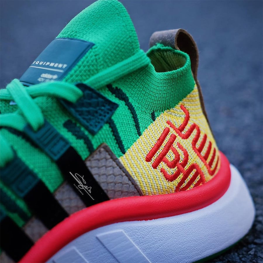 "f9e3893d7 In-Depth Look at the DBZ x adidas EQT Support Mid ""Shenron"" Dropping ..."