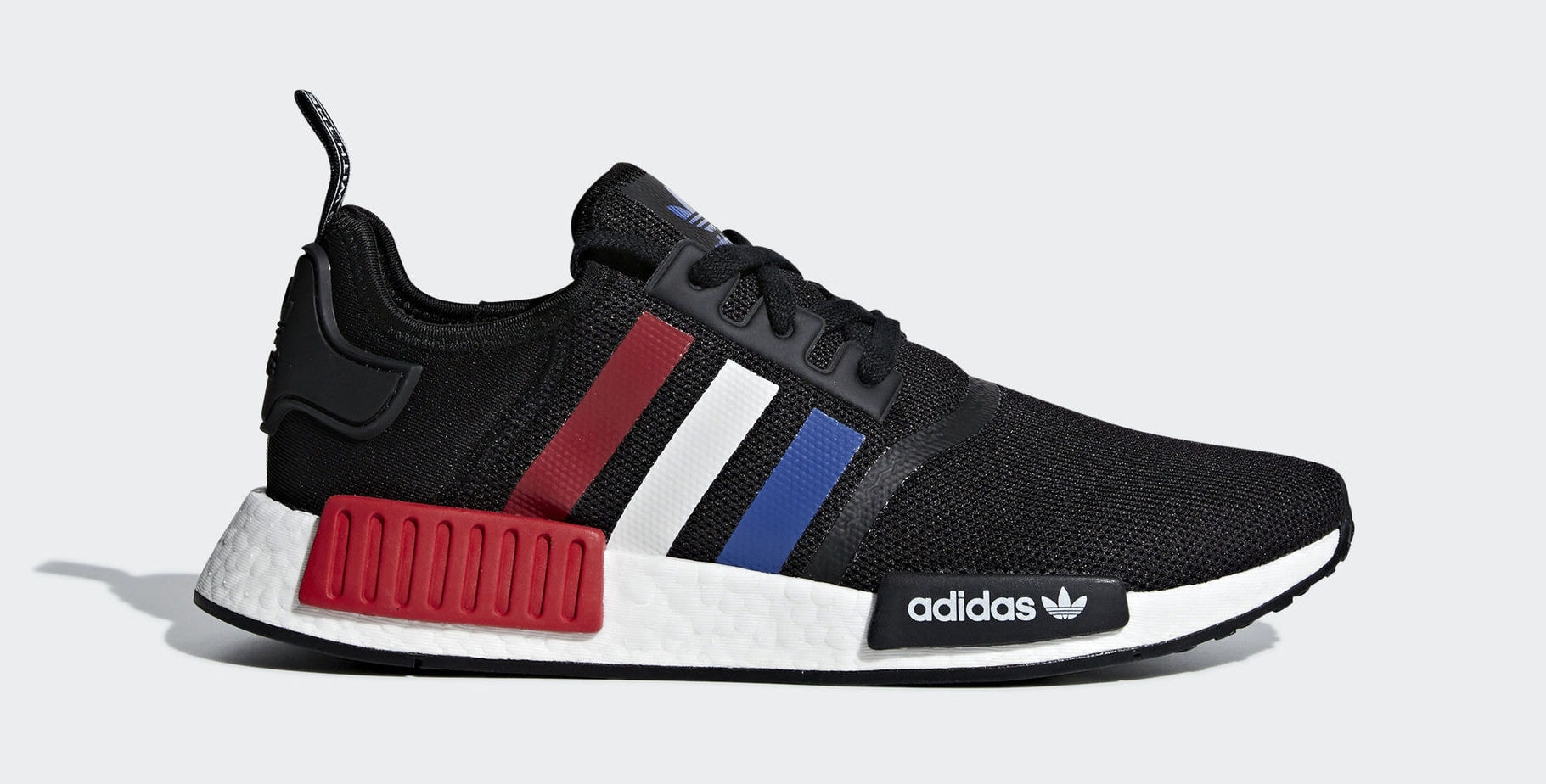 "e863df2a1b20c7 adidas NMD R1 Tri-Color ""USA"" Core Black Collegiate Royal Ftwr White  Release Date  2019"