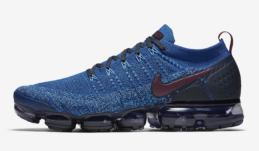 Nike Air VaporMax 2.0. Release Date  Fall 2018. Price   190. Color  Gym Blue Bordeaux-College  Navy Style Code  942842-401 6c69264f1