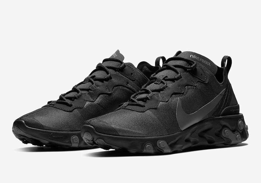 Nike React Element 55 Triple Black Release Info - Pochta