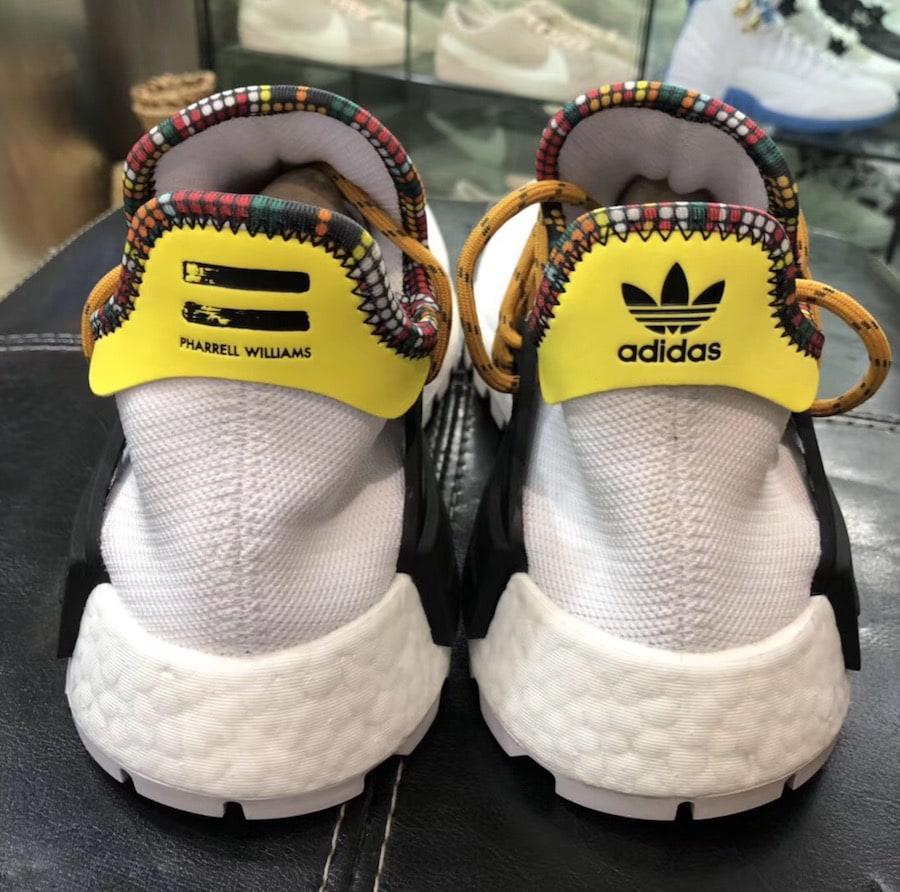 "6819255f5 Pharrell Williams x adidas Hu NMD ""Inspiration Pack"" Release Date  November  2017. Price   250. White  EE7583 Purple  EE7579 Blue  EE7581 Black  EE7582"
