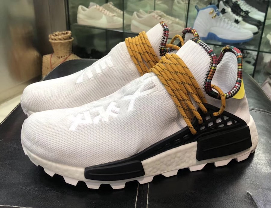 "6819255f5 Pharrell Williams x adidas Hu NMD ""Inspiration Pack"" Release Date  November  2017. Price   250. White  EE7583 Purple  EE7579 Blue  EE7581 Black  EE7582"