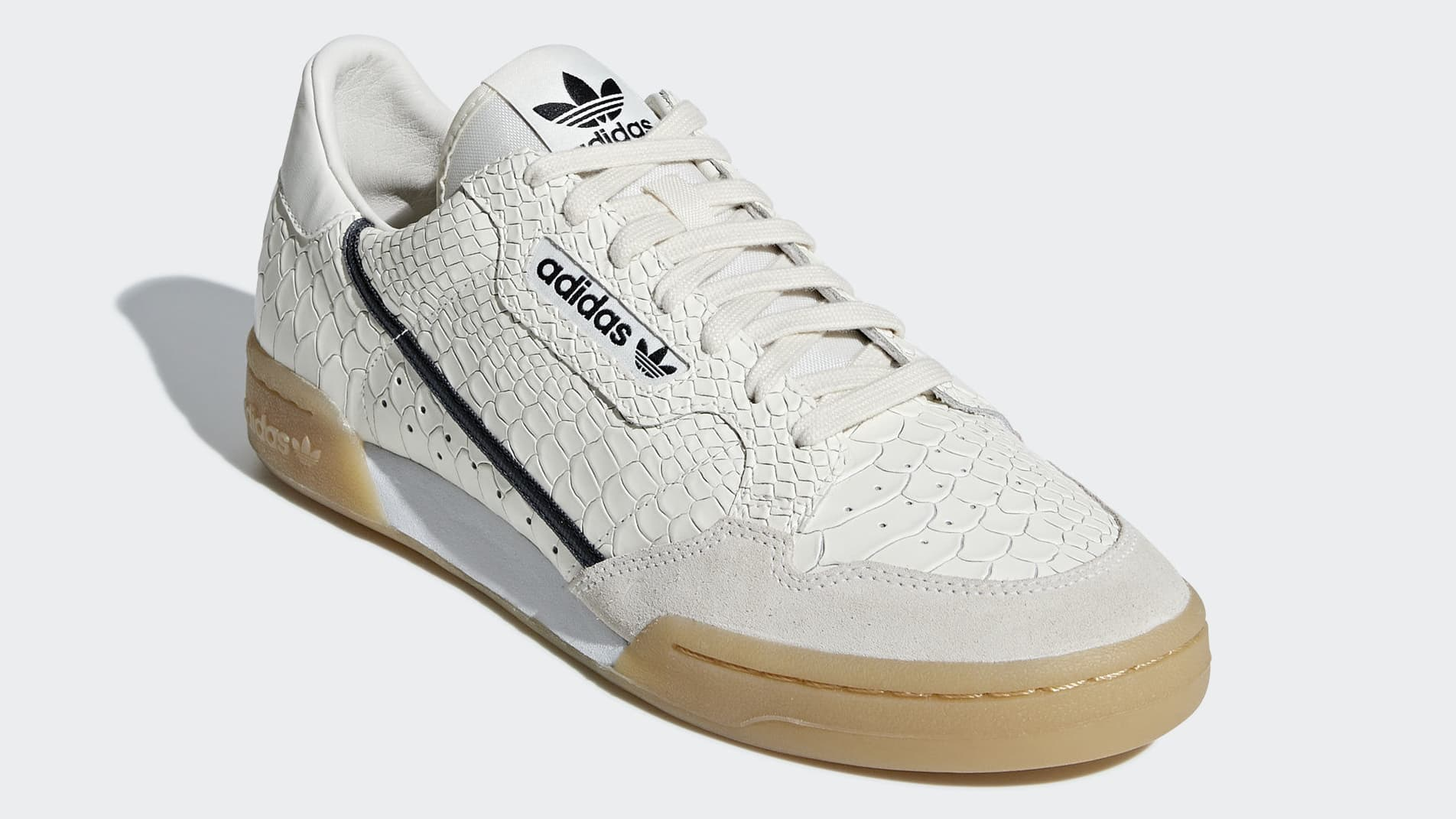 wholesale dealer 0f6e2 42b03 The post adidas  Continental 80 s Returns in Luxurious Python Leather This  Fall appeared first on JustFreshKicks.