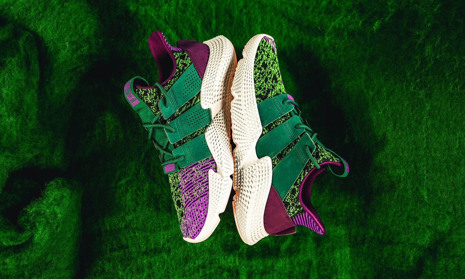 """43097fc6ba0c09 Dragon Ball Z x adidas Prophere """"Cell"""" Color  Solar Green Collegiate  Green-Core Black Style Code  D97053 Release Date  October 27"""