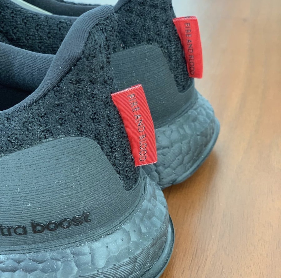 "b37834cdf920f The post Take a Better Look at the ""Fire   Blood"" Game of Thrones x adidas  Ultra Boost appeared first on JustFreshKicks."