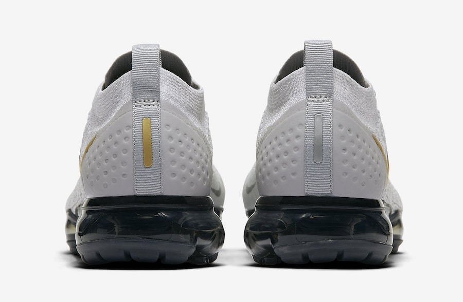 new arrival f395b 5a418 Nike Air VaporMax 2.0. Release Date  November 11th, 2018. Price   190.  Color  Vast Grey Metallic Gold-Pure Platinum-Dark Grey-White Style Code   942843-010