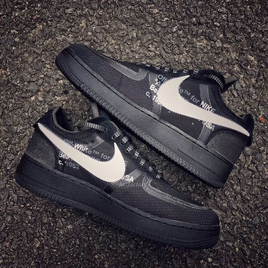 7a87821d03a Off-White x Nike Air Force 1 Low Release Date  November 2018. Price   170.  Color  Black White Style Code  AO4606-001