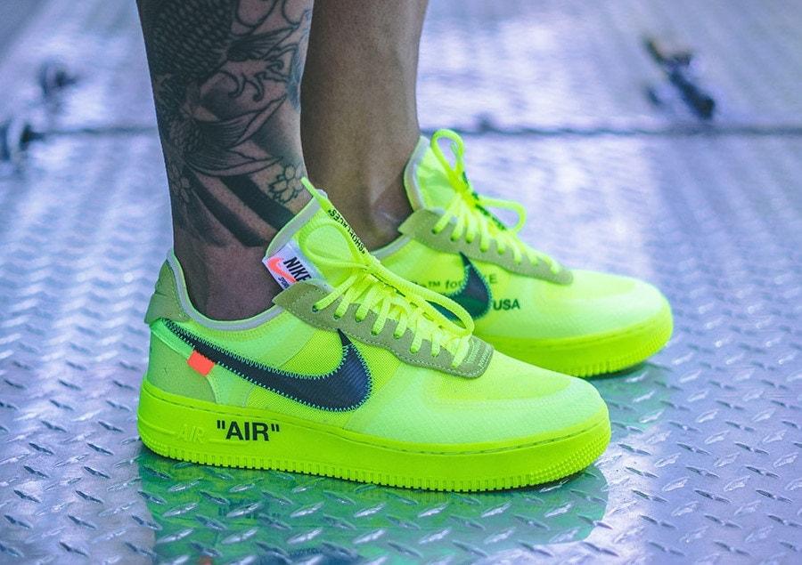 Off-White x Nike Air Force 1 Volt On-Foot - JustFreshKicks
