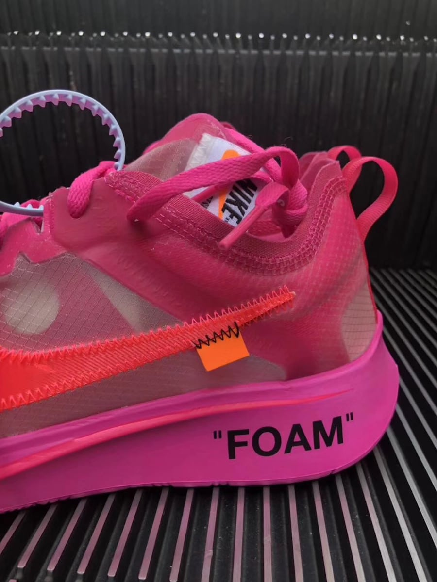ce2458618060 Off-White x Nike Zoom Fly SP Black   Pink Release Info - JustFreshKicks