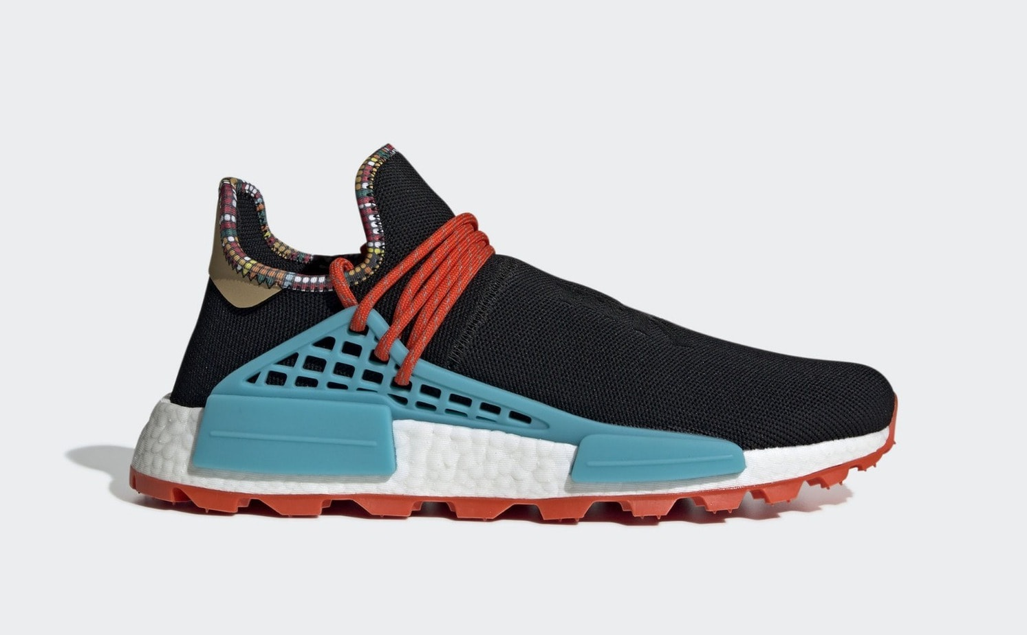 """b3144a389 Pharrell x adidas Hu NMD """"Inspiration"""" Release Date  November 2018. Price    250. Color  Core Black Clear Blue Collegiate Orange Style Code  EE7582"""