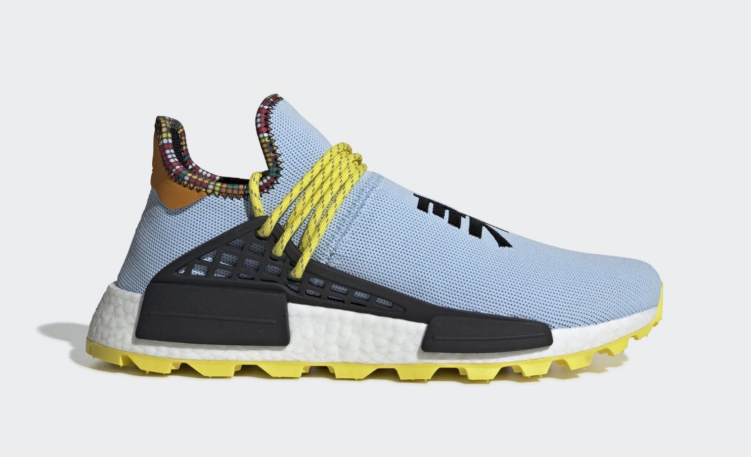 "b0b582b21 Pharrell x adidas Hu NMD ""Inspiration"" Release Date  November 2018. Price    250. Color  Ftwr White Bold Green Bright Yellow Style Code  EE7583"