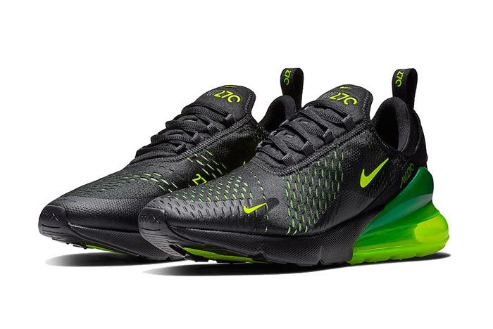 purchase cheap 5118a 91427 Nike s Air Max 270 Returns in a Sleek Mix of Black   Volt