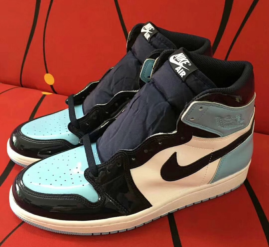 3d35306c44e The post The Air Jordan 1 High Surfaces in Baby Blue Patent Leather  appeared first on JustFreshKicks.