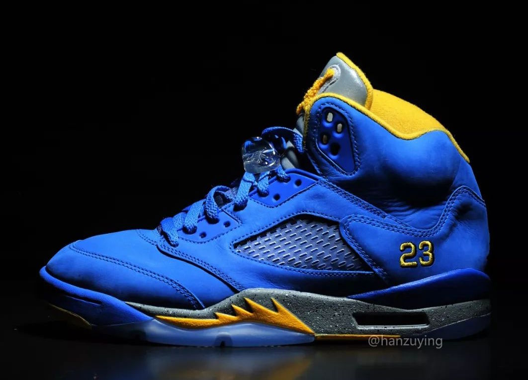 "cheaper c811d 192c6 Air Jordan 5 JSP ""Laney"" Release Date  January 19th, 2019. Price   190.  Color  Varsity Royal Light Charcoal-Varsity Maize Style Code  CD2720-400"
