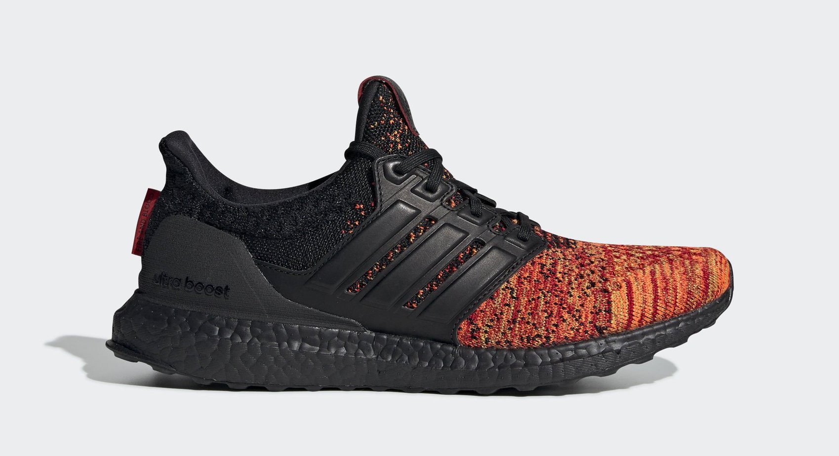 "ef6671c2a GOT x adidas Ultra Boost ""House Targaryen"" Core Black Core Black Scarlet  Red March 22"