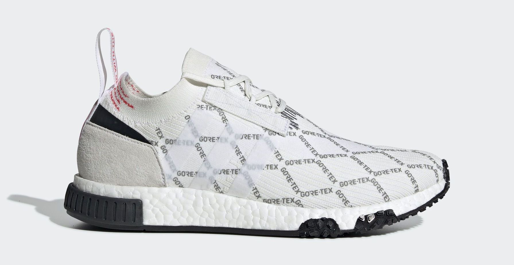 "feda2d4231d0ad adidas NMD Racer ""Gore-Tex"" Ftwr White Ftwr White Shock Red Release Date   2019"