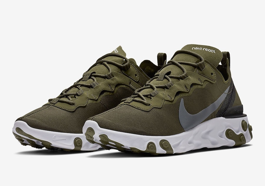 38d5b6ea5b811 Nike s Element React 55 Surfaces in Olives Tones For Release Soon