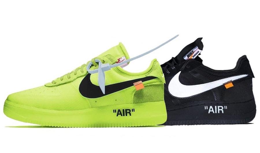 33e24f840362 Off-White x Nike Air Force 1 Volt   Black Release Date - JustFreshKicks