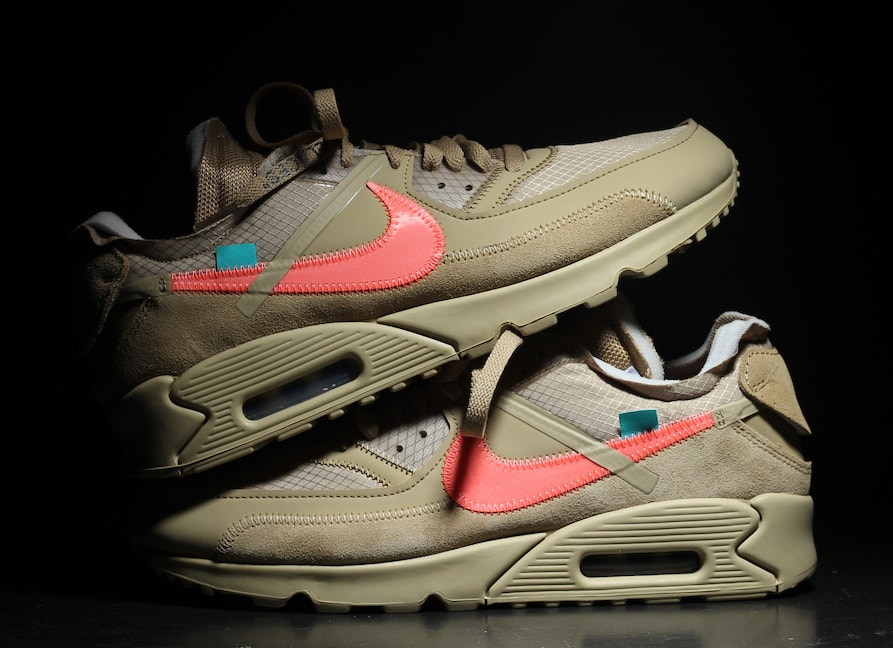 """The post Off-White   Nike s Air Max 90 Returns in """"Desert Ore"""" in January  appeared first on JustFreshKicks. 87c1cbc41"""