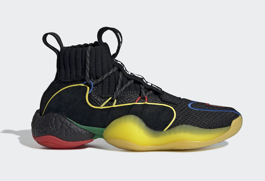 "best sneakers f2f1a d3af7 Pharrell x adidas Crazy BYW ""Gratitude Empathy"" Release Date December  22nd, 2018. Color BlackMulti-Color Style Code G27805"