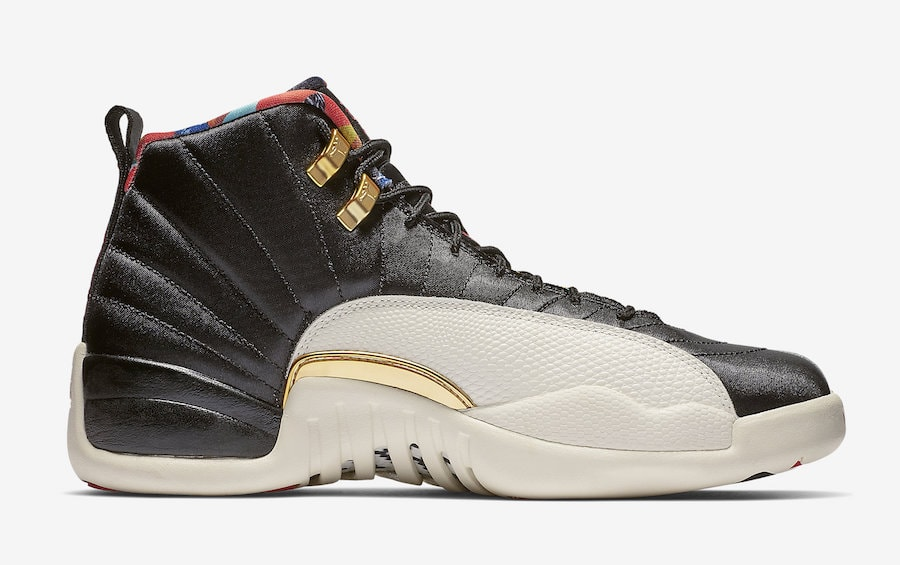 """competitive price ee53d 5865a Air Jordan 12 """"Chinese New Year"""" Release Date  February 5th, 2019. Price    250. Color  Black Sail-Metallic Gold-True Red Style Code  CI2977-006"""