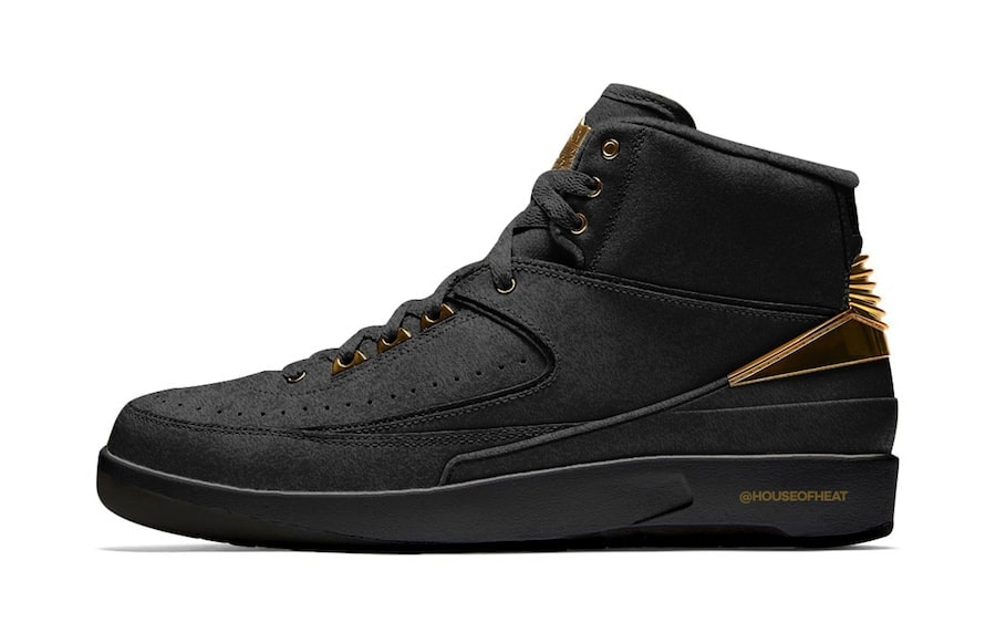 "b448d5a7e7ad Air Jordan 2 ""BHM"" Release Date  February 2019. Price   190. Color  Black Metallic  Gold Style Code  BQ7618-007"