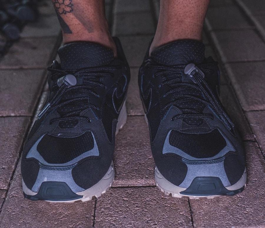 como el desayuno mesa Preocupado  Fear of God x Nike Air Skylon II Black On Foot - JustFreshKicks