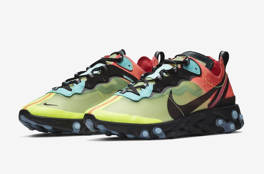 cheaper d6480 eac4c Nike React Element 87. Release Date  2019. Price   160. Color  Light  Orewood Brown Volt Glow-Cool Grey-Laser Orange Style Code  AQ1090-101