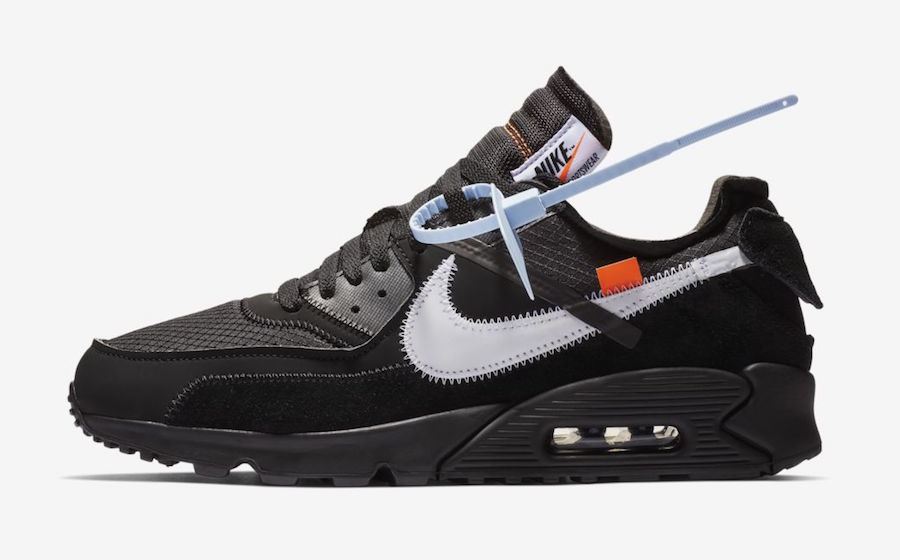 "timeless design a8bd7 22f13 Off-White x Nike Air Max 90 ""Black"" Release Date January 17th, 2019. Price  160. Color BlackCone-White-Black Style Code AA7293-001"