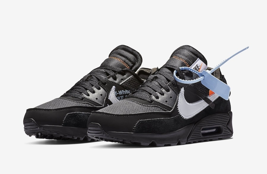 "new concept e3133 54596 Off-White x Nike Air Max 90 ""Black"" Release Date January 17th, 2019.  Price 160. Color BlackCone-White-Black Style Code AA7293-001"