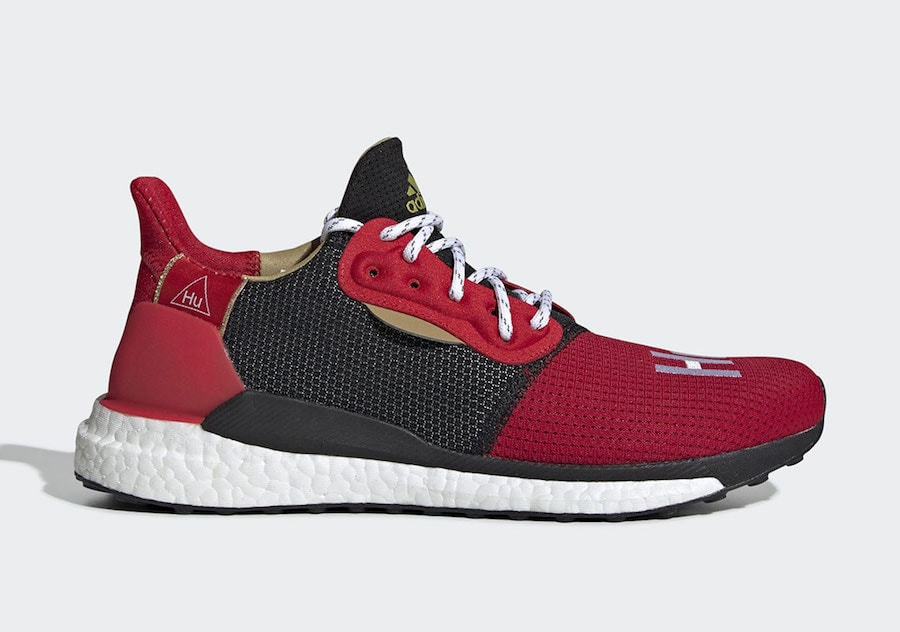 """Pharrell x adidas Solar Hu """"Chinese New Year"""" Color  Red Core Black Style  Code  EE8701 Price   150 8bdda8de9"""