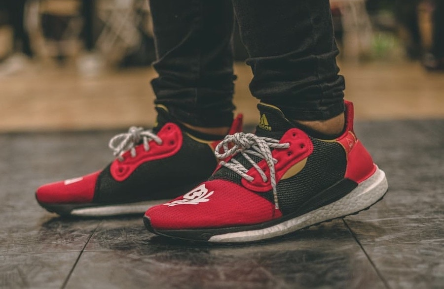 d31e88d11a8c0 Pharrell Williams and adidas are always working on something new. The  latest footwear to leak from the pair features the signature Hu name and  look