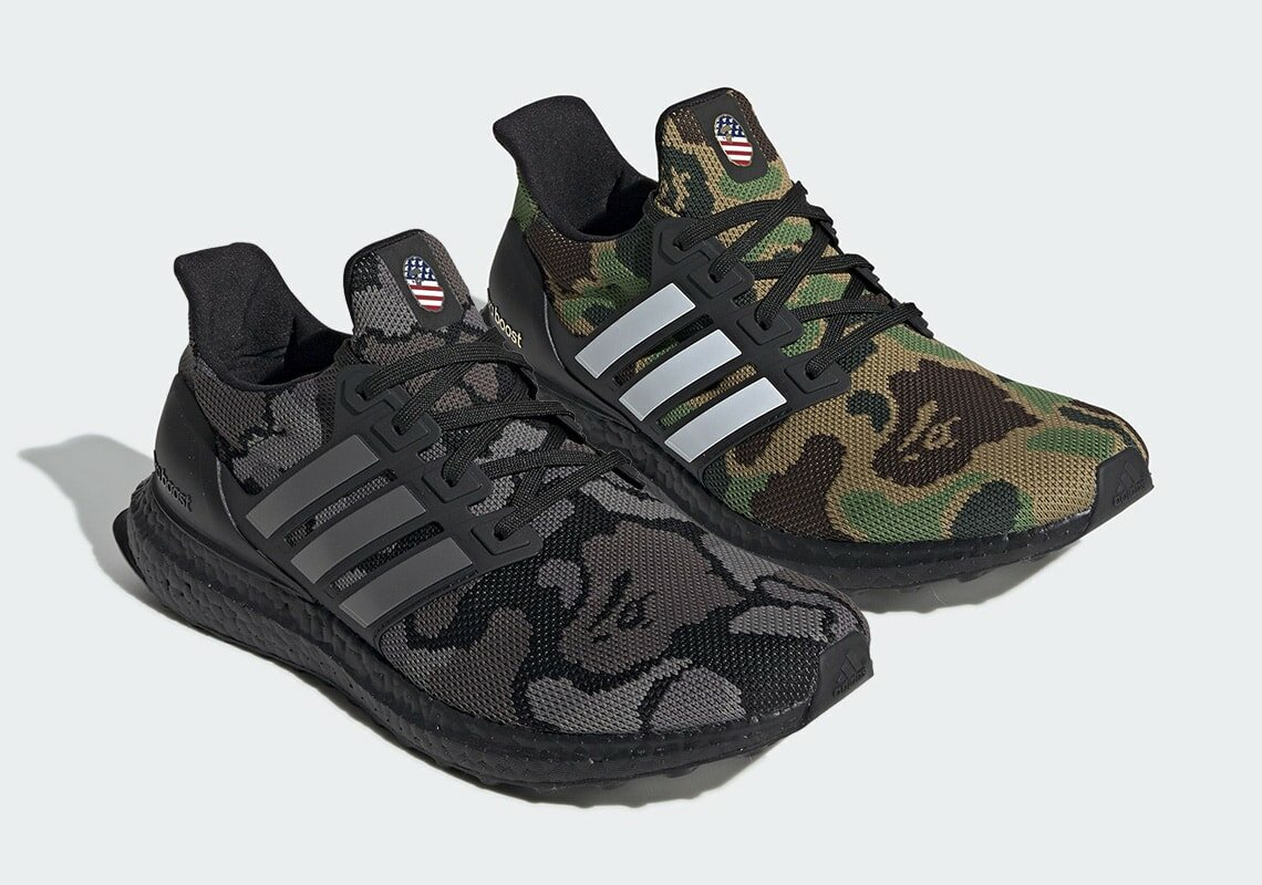 newest 8822a de806 Bape and adidas are back, this time with one of the Three Stripes hottest  footwear offerings in recent years. Check out the Bape x adidas Ultra Boost,  ...