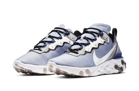 "1949ad1ae84 Nike s React Element 55 Surfaces in a New ""Blue Tint"" Look"